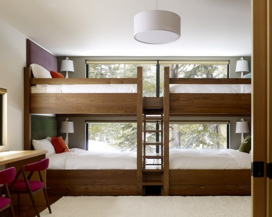 #bedroom Great use of space for a room with multiple kids
