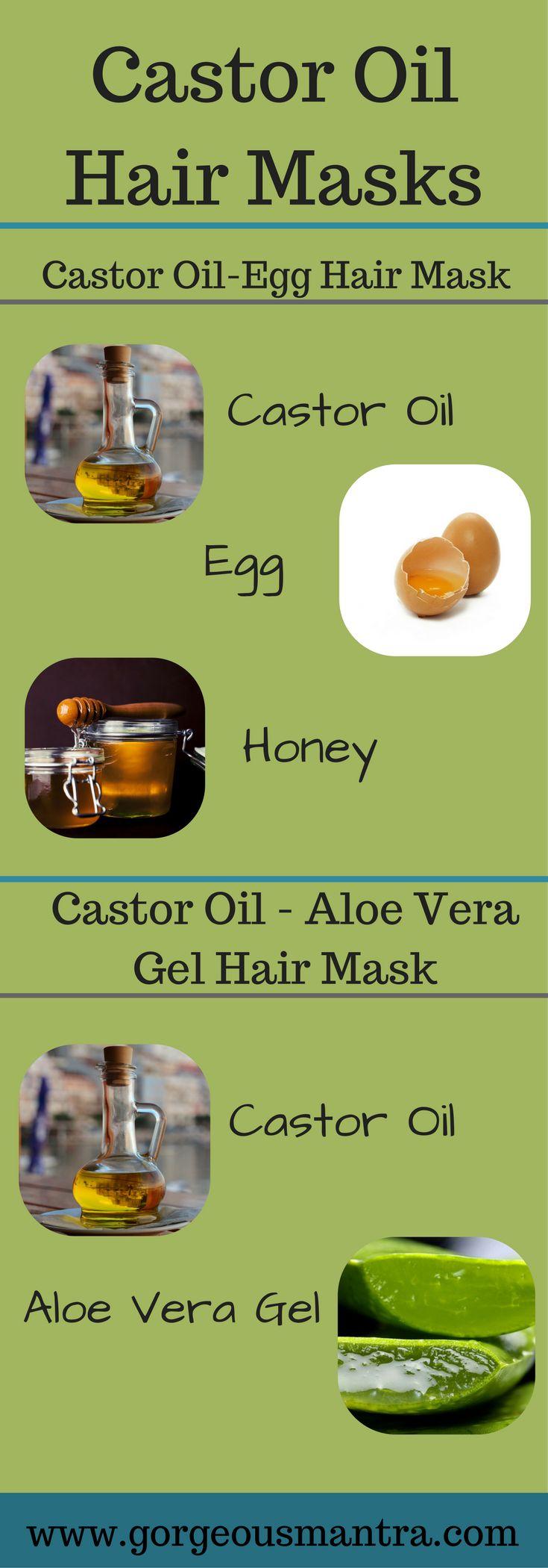 DIY Castor Oil Hair Masks for hair growth. Use these castor oil hair masks once a week for thicker, longer hair.