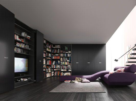 modern wardrobe wall storage system 40s by interluebke furnishism - Wall Storage Systems Bedroom