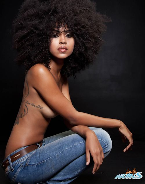 topless natural hair