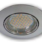 Lumière Discount–230V 2,3W (48SMD–blanc chaud) Spot LED encastrable GU10Spot Lampe 0149Chrome brillant–Raccordement directement…