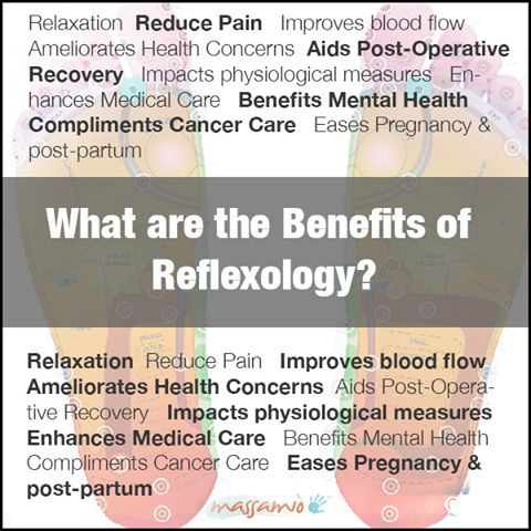 Benefits of Reflexology. These are great things to focus on when you're describing your practice.