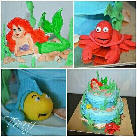 Details about my Ariel cake./ Részletek az Ariel tortámról.