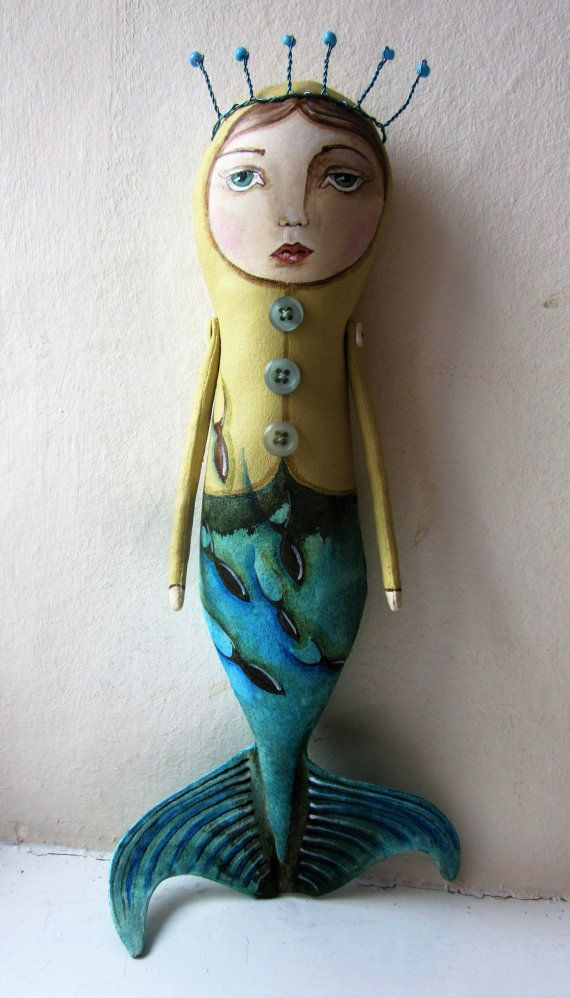 Mermaid doll Mermaid art OOAK Mermaid Siren от LaineyWhitworthArt
