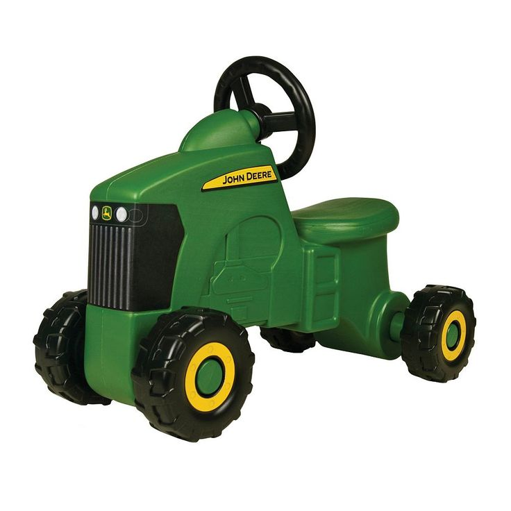John Deere Foot to Floor Tractor Ride-On, Multicolor