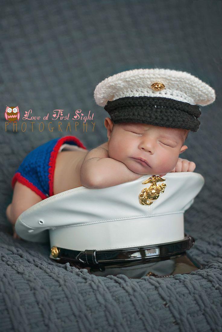 USMC dress blues Newborn Photography #marines #usmc #baby