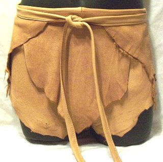 Leather Shorts Deerskin Hippie Custom Leather Wrap by dleather, $149.95
