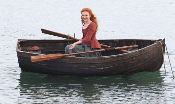 Poldark series 2: Eleanor Tomlinson looks radiant as character Demelza goes fishing | TV & Radio | Showbiz & TV | Daily Express