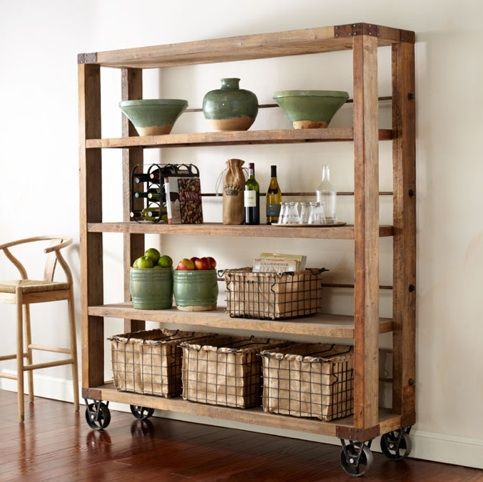 Recycled Pine Wood bookcase