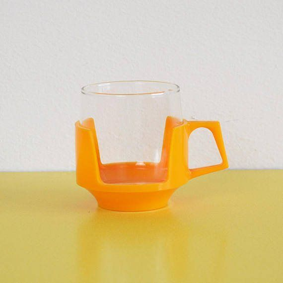 I love these Drinkups cups but only ever seem to find lonely ones rather than sets... but we currently have two in stock this bright yellow one on Etsy and an olive green one on Ebay!