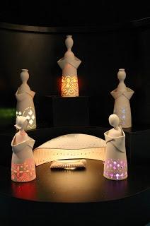 anjos de luz em cerâmica
