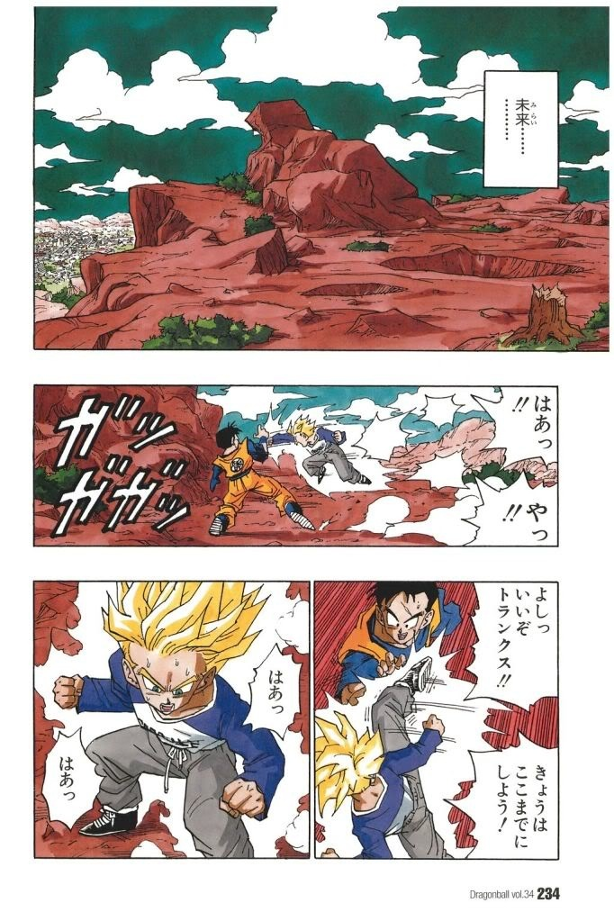 History of Trunks, Future Gohan and Future Trunks during training