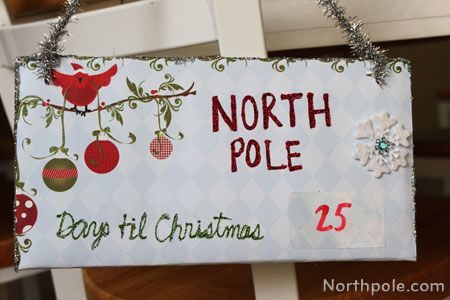 It's not too early to start counting down the days until Christmas with this DIY door sign.
