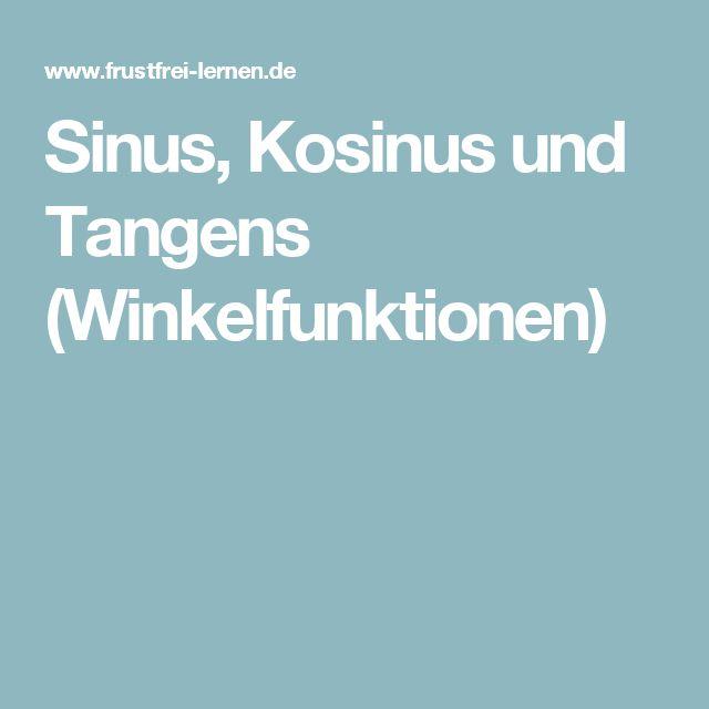 Sinus, Kosinus und Tangens (Winkelfunktionen)