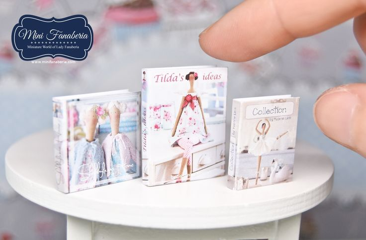 A set of 3 miniature books made by me in 1:12 scale. All the books are openable and have beautiful, high quality printed covers that lookes very realistic :)