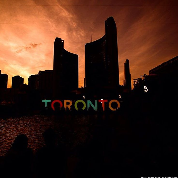 Toronto sign in front of NPS | Explore, create and manage live experiences and local events at www.bruha.com
