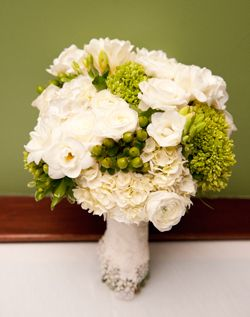 WeddingChannel Galleries: White & Green Wedding Bouquet