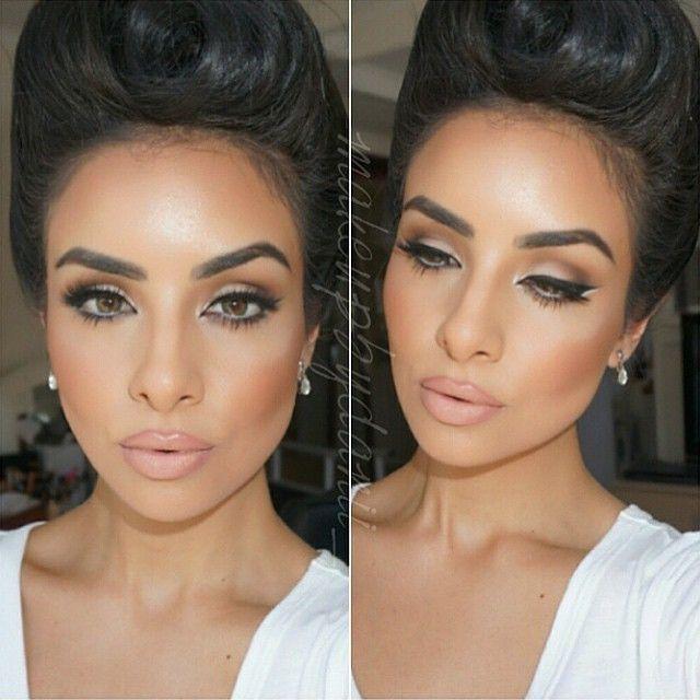 @house_of_mua stunning @makeupbydanii_ ・・・ Foundation: @erabeautyusa Concealor: Mac select cover up Powder: Ben nye translucent Bronzer: @gorgeouscosmeticsofficial endless summer 02 Blush: Mac trace gold with peaches Eyes: @stilacosmetics soul palette Lips: Mac whirl with Mac Honey love Brows: @anastasiabeverlyhills Lashes: @lashesbylena in Bianca Hair by the amazing @styles_carlagabriela #makeupbydanii_ #latina #gerardcosmetics #bbBabe#anastasiabrows #anastasiabeverlyhills…