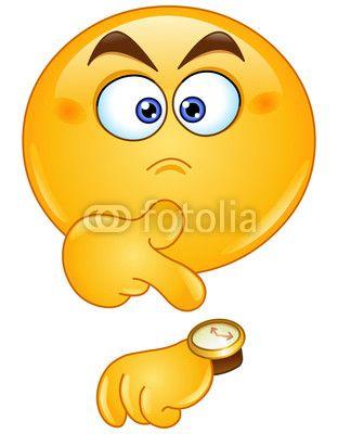 Pointing at watch emoticon de Yael Weiss, Fichier vectoriel libre ...