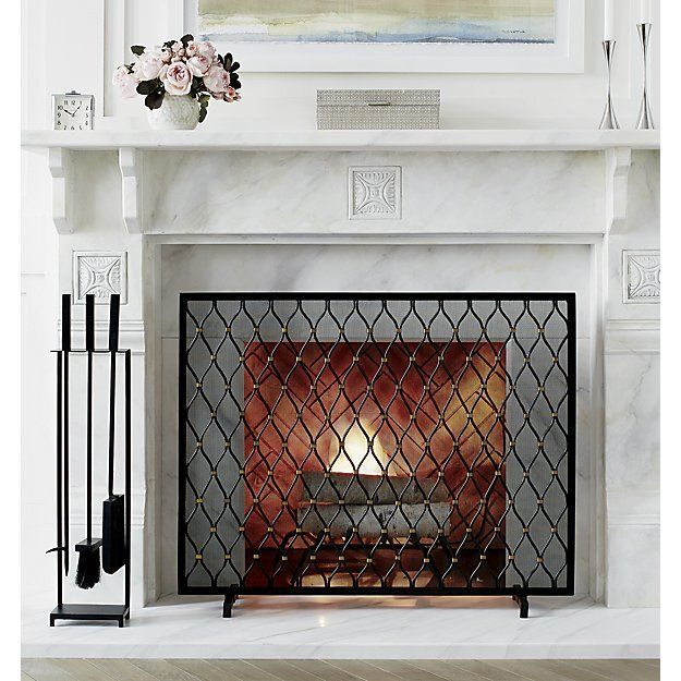 Corbett Fireplace Screen   Crate and Barrel