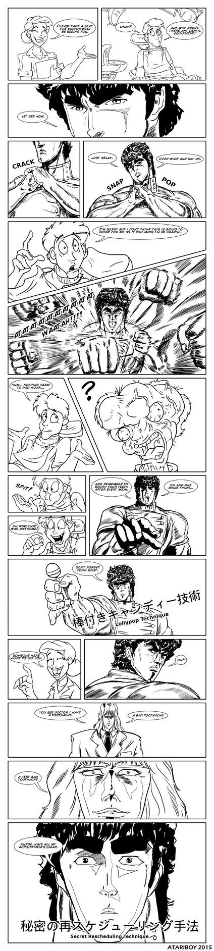 Kenshiro: You're Already Root Canal. Im a HUGE fan of Fist of The North Star from getting alot of there old comics and videos from the 80s and still owns them. But believe it or not I had this comi...