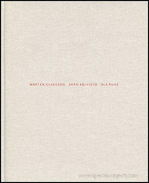 """Mårten Claesson, Eero Koivisto, Ola Rune - Furniture"" - published 2002 by Totem, New York, USA. Graphic design by Markus Moström. ISBN 91-631-2488-2"