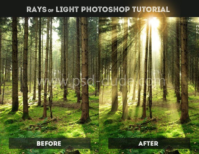 Create Rays of Light in Photoshop - Photoshop tutorial | PSDDude