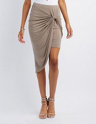 Knotted Asymmetrical Skirt #CharlotteLook