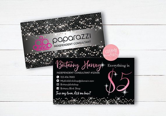 Printable Paparazzi Business Card Paparazzi Jewelry Consultant