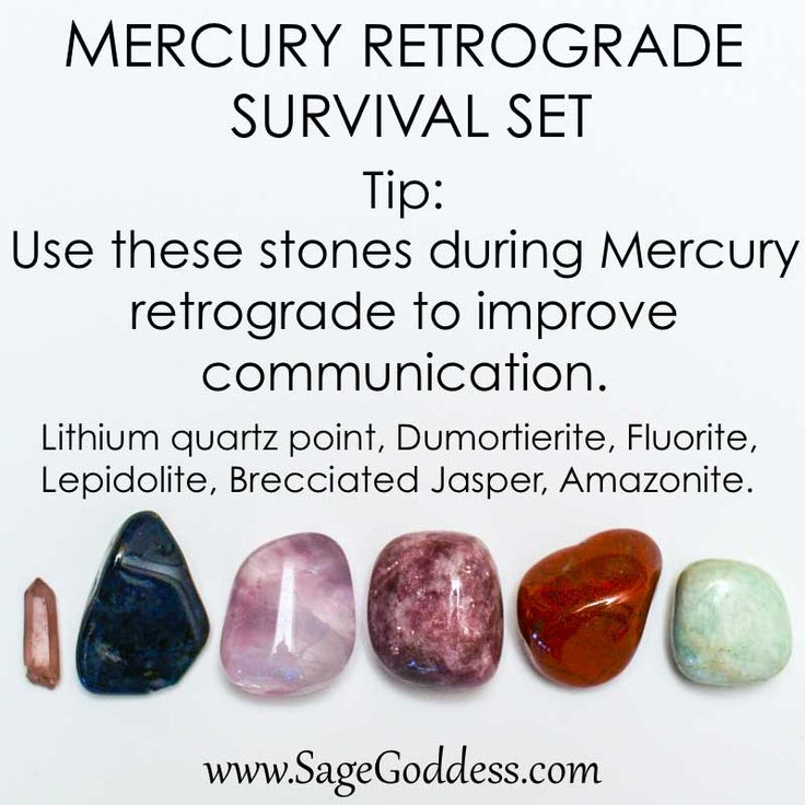 Mercury Retrograde Survival Kit! Use these stones to improve communication during Mercury Retrograde. #BlameitonMercury