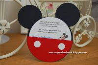 Mickey Mouse Christening Invitation