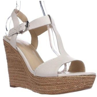 Marc Fisher Harlei Espadrille Wedge Sandals, Ivory.