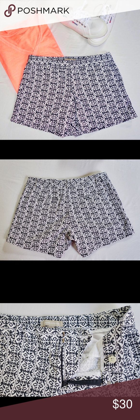 """Banana Republic Chino Shorts Like new!! Only worn a few times. Wonderful look and length for a variety of occasions -- dress down with a tshirt, or up with a blouse and sandals. Inseam: 4.5"""".                                                                                     **Price negotiated through offer button only. Banana Republic Shorts"""