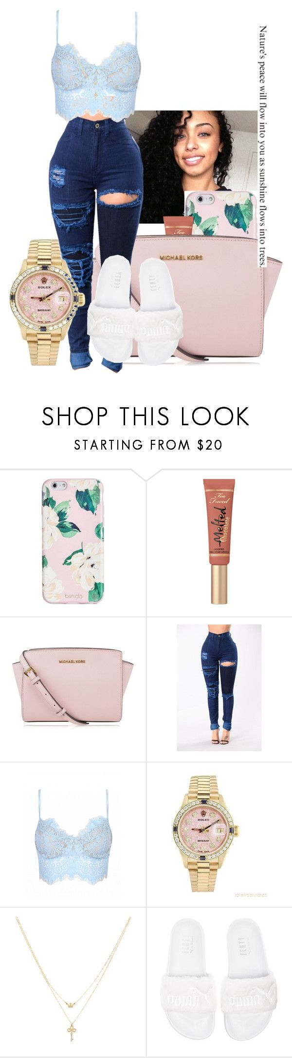 """""""going to the movies// Nessa"""" by th3-qu33n-25 on Polyvore featuring ban.do, MICHAEL Michael Kors, Rolex, Betsey Johnson and Puma"""