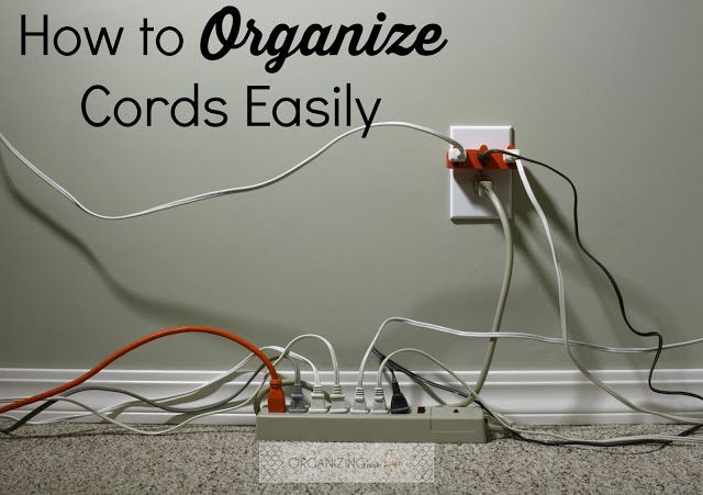 How to Organize Cords Easily