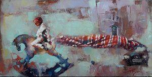 "Waclaw Sporski ""Roadhog"" 40х80 Oil On Canvas sporskiart.com"