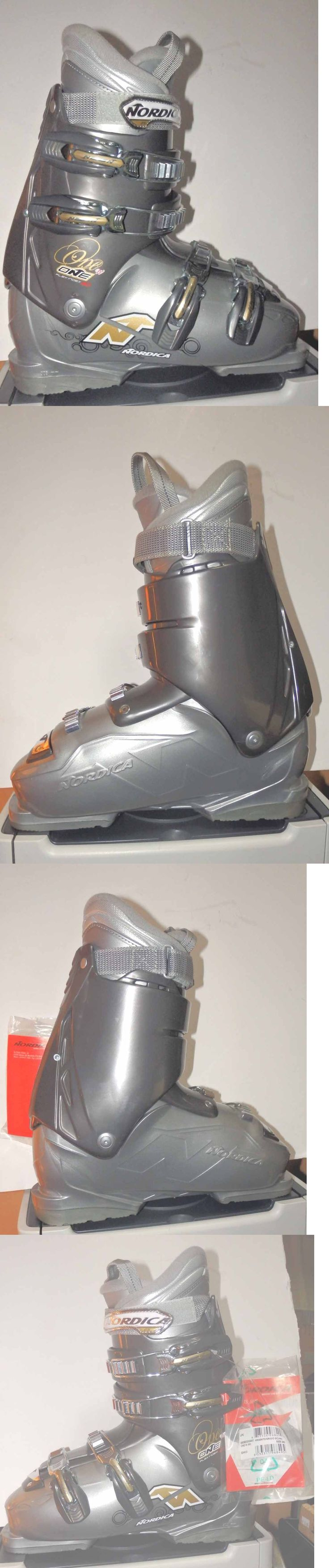 Women 21241: Nordica One W Downhill Ski Boots White -- Mondo 26.5 / Us 9.5 Womens BUY IT NOW ONLY: $99.95