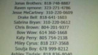 celebrity phone numbers - Google Search