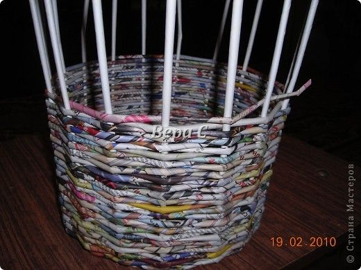 Master Class Master Class weaving weaving from the newspaper for beginners Newsprint Paper Straws Photo 12 + HOW TO