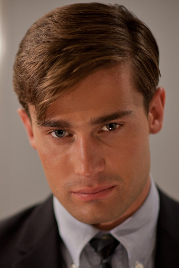 Love a longer, soft haircut. UK actor Christian Cooke.