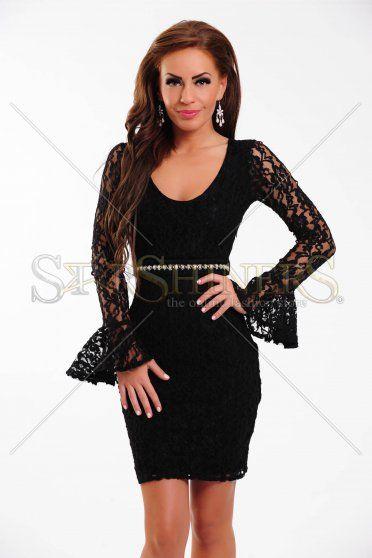 Rochie PrettyGirl Deep Lace Black