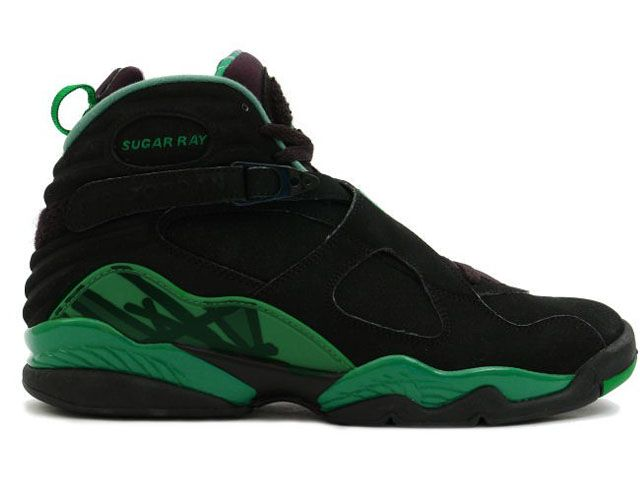 competitive price 7d378 95d90 Air Jordan 8 Retro 'Sugar Ray' Black Green | Sports Shoes in ...