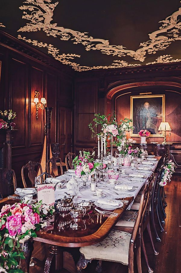 Victorian wedding style; victorian dining room. Love this