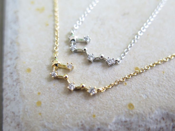constellation necklace,Zodiac Constellation Necklace,Zodiac-sign, Taurus / the Bull (Apr 20 - May 20)  with giftbox by thinlight on Etsy