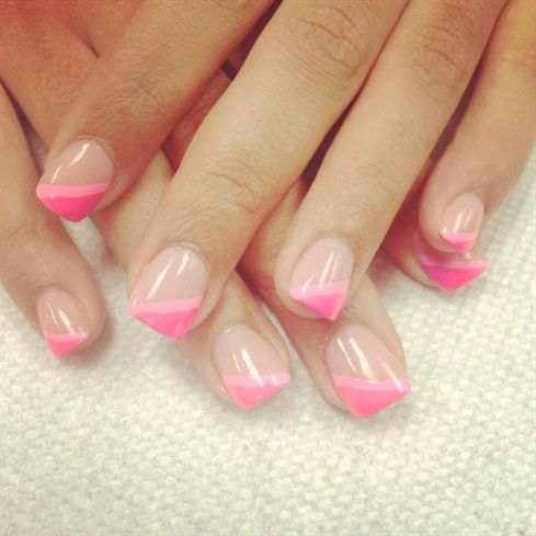 pink french for valentines day by zitianzhang – Nail Art Gallery nailartgallery…
