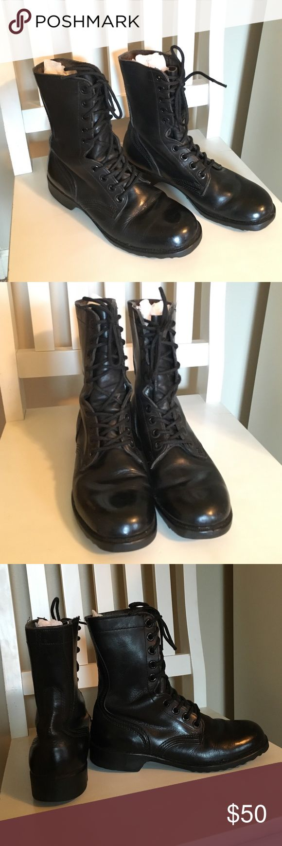 Vintage 1980s US army combat boots Lightly used, worn some but still in very good condition. They are a men's 6.5 so they would fit a women's 8.5. Great boots for people who like vintage things or just looking for some cute combat boots to wear! Let me know if you have questions! Shoes Combat & Moto Boots