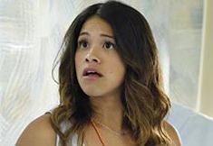 "JANE THE VIRGIN     ""Chapter Eleven"" When the nuns surprise Jane by offering her a permanent teaching position, she's excited, but things become complicated when Rogelio offers Jane a writing internship at his telenovela. Alba encourages Xo to keep the promise she made to God about Rogelio. Meanwhile, Michael is convinced of Rafael's involvement with the mysterious Sin Rostro and disobeys his boss' direct order to leave Rafael alone. #Jane #JaneTheVirgin (1 Hour)"