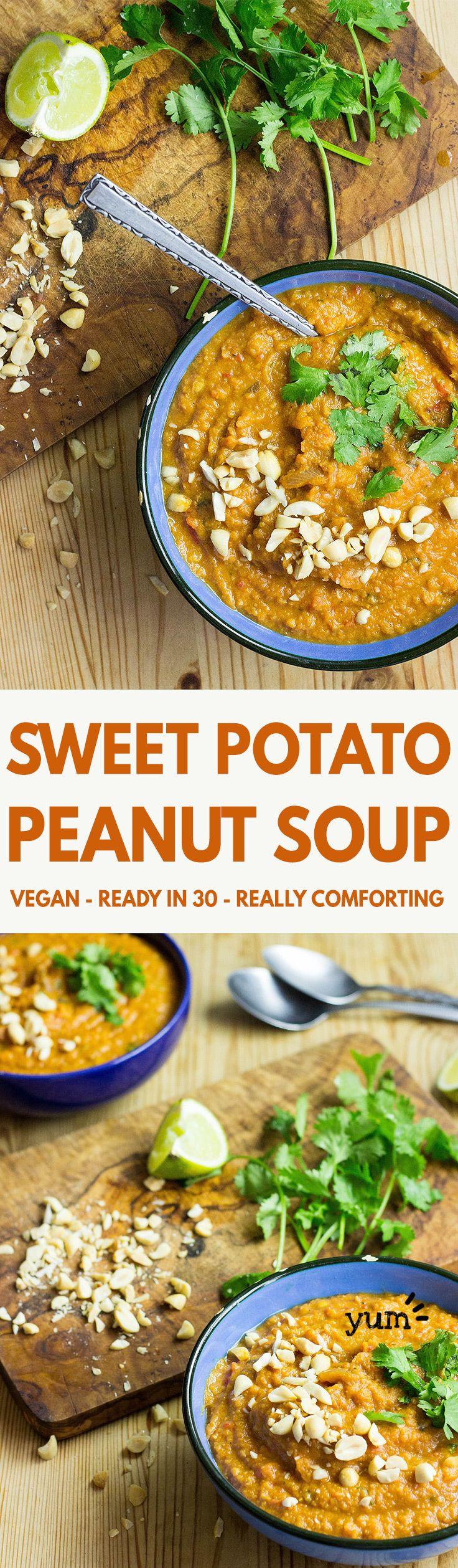 Amazingly Quick and Healthy Vegetarian Sweet Potato Soup   hurrythefoodup.com