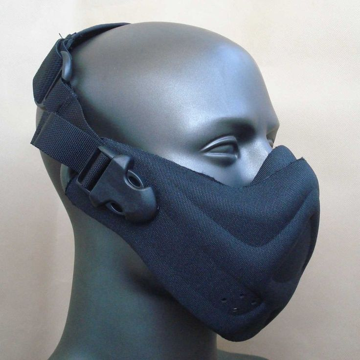 Airsoft Neoprene Hard Foam Half Face Mask Black