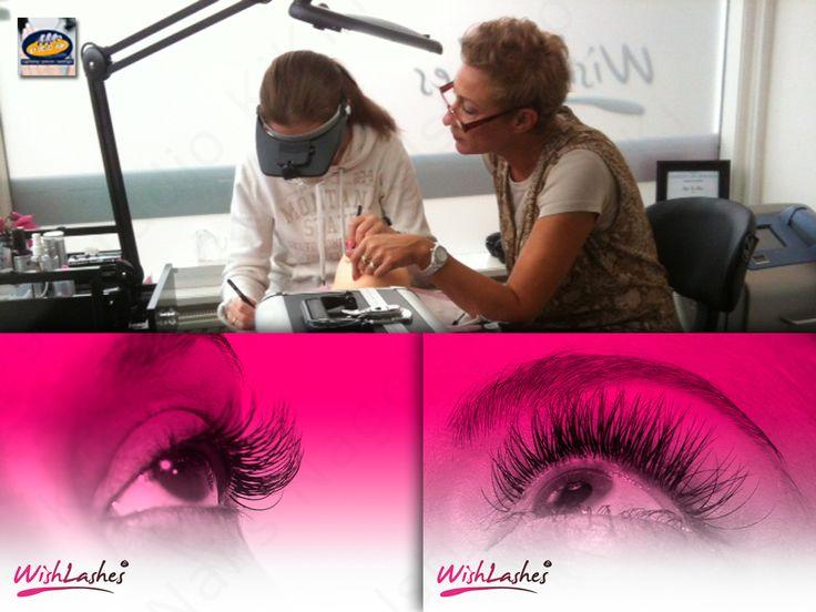 Wimperextensions bij Nagelstudio KiKi Nails (www.kiki.nl)  Een tiental jaren terug was wimperverlenging de trend op beauty gebied. Er was alleen één probleem, de wimpers bleven met geen mogelijkheid zitten.  In de afgelopen maanden hebben wij ons laten overtuigen door wimpersextensions van Wishlashes. Na een intensieve training mogen wij ons Gediplomeerd Wishlashes® Stylist noemen.